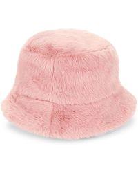 Steve Madden - Faux-fur Bucket Hat - Lyst