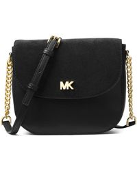 MICHAEL Michael Kors - Half Dome Leather And Suede Crossbody Bag - Lyst