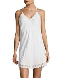 Flora Nikrooz - Lace-trimmed Chemise - Lyst