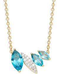 Nadri - Breeze 18k Gold Plated And Cubic Zirconia Necklace - Lyst