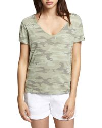 Sanctuary - Camouflage Twisted Tee - Lyst