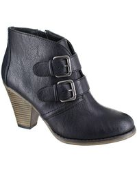 MIA - Farris Double Buckle Ankle Boots - Lyst