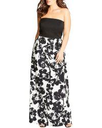 ed935984f0d Lyst - Polo Ralph Lauren Eyelet Linen Maxi Dress in Black