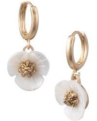 Lonna & Lilly - 3d Flower Drop Earrings - Lyst