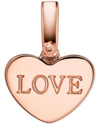 Michael Kors Custom Kors Collection Sterling Silver Heart Charm - Pink