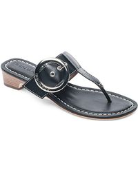 Bernardo - Grace Leather Thong Sandals - Lyst