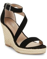 Charles David - Lou Suede Espadrille Wedge Sandals - Lyst