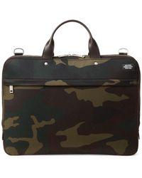 Jack Spade - Water-resistant Camo Waxwear Slim Briefcase - Lyst