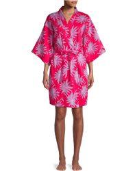 Sesoire - Floral Short Wrap Robe - Lyst