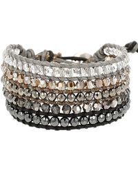 Chan Luu - Crystal, Leather And Sterling Silver Bracelet - Lyst