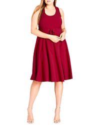 City Chic - Plus Cute Sleeveless Midi Dress - Lyst