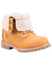 Timberland - Authentics Fleece Fold-down Boot - Lyst