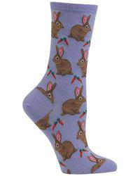 Hot Sox - Bunny Printed Socks - Lyst