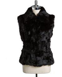 Surell - Rabbit Fur Vest - Lyst