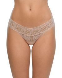 Hanky Panky - Low Rise Lace Thong - Lyst