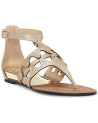 Vince Camuto - Women's Arlanian Leather Cutout Demi Wedge Sandals - Lyst