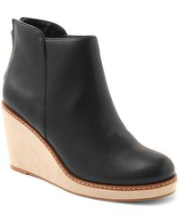 Kensie - Higgins Leather Wedge Booties - Lyst
