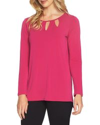 Chaus - Long-sleeve Cutout Top - Lyst