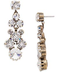 Sorrelli - Core Well-rounded Crystal Drop Earrings - Lyst