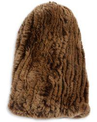 Surell - Rabbit Fur Slouch Beanie - Lyst