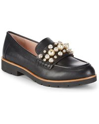 65f6f025d84 Kate Spade Karry Too Studded Loafers in Black - Lyst