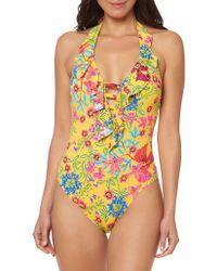 Bleu Rod Beattie - Floral One-piece Swimsuit - Lyst