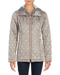 Vince Camuto - Mock-layered Hooded Quilted Jacket - Lyst