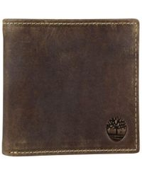 Timberland - Crazy Horse Leather Bi-fold Wallet - Lyst