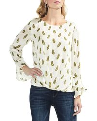 Vince Camuto - Flutter Cuff Paisley Blouse - Lyst