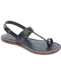 Bernardo - Maverick Leather Toe Ring Sandals - Lyst