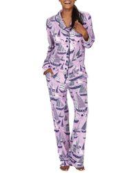 Munki Munki - Sail Away Classic Pyjama Set - Lyst