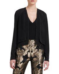 Donna Karan - Open-front Long-sleeve Jacket - Lyst