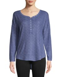 Roudelain - Ribbed High-low Henley - Lyst