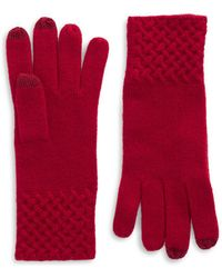 Lord & Taylor | Knit Cuff Cashmere Gloves | Lyst