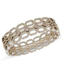 Ivanka Trump - Set Of Three Crystal-embellished Bangle Bracelets - Lyst