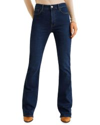 Mango - Flared High-rise Jeans - Lyst