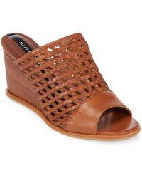 Matt Bernson - Basket-weaved Leather Wedge Sandals - Lyst