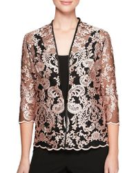 Alex Evenings - Two-piece Embroidered Jacket And Scoopneck Camisole Twinset - Lyst