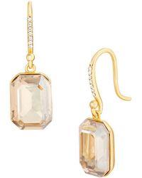 Lord & Taylor - 925 Sterling Silver & Swarovski Crystal Drop Earrings - Lyst