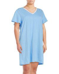 Karen Neuburger - Plus Lace-trimmed Floral Nightgown - Lyst