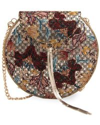 Sam Edelman - Beatrice Ii Hard Box (multi Floral Embrodiery) Clutch Handbags - Lyst