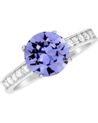 Lord & Taylor - Sterling Silver & Swarovski Crystal Solitaire Ring - Lyst