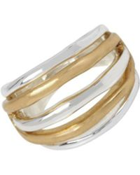 Robert Lee Morris - Two-tone Cutout Ring - Lyst