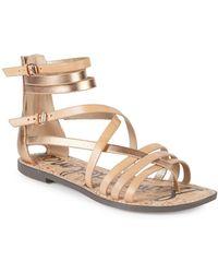 d7a5d29c7 Lyst - Sam Edelman Gigi Leather Thong Sandals in White