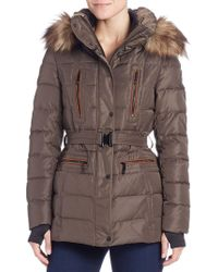 Vince Camuto - Faux Fur-trimmed Puffer Jacket - Lyst