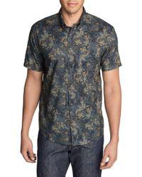 Eddie Bauer - Baja Printed Short-sleeve Shirt - Lyst
