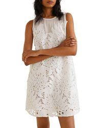 Mango - Babel Guipure Lace Dress - Lyst