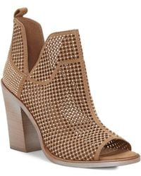 Vince Camuto - Kiminni Suede Peep Toe Booties - Lyst