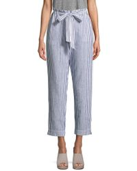 Beach Lunch Lounge - Tie-front Striped Pants - Lyst