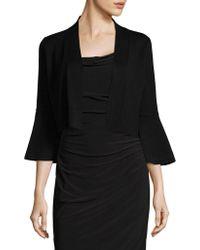 Calvin Klein | Bell-sleeve Cropped Cardigan | Lyst